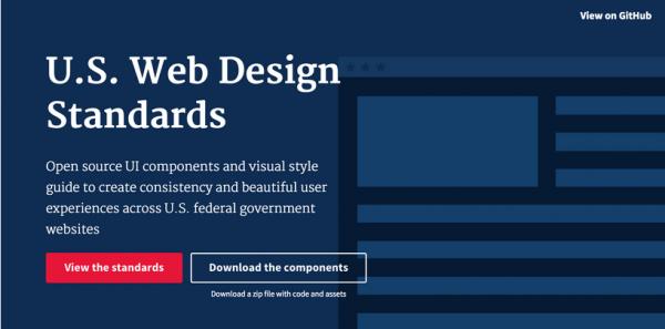 美国政府发布官网新设计标准